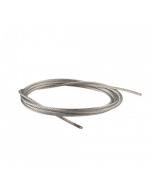 Stainless Steel Cable The 1.8 mm. thick stainless steel aircraft cable with fused ends is compatible with Systematic Art's Self Gripping Looper. If you want to create tension with this cable, use a tension coil spring.